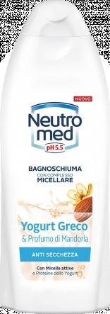 BAGNOSCHIUMA CON COMPLESSO MICELLARE YOGURT GRECO